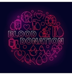 Blood donation red vector