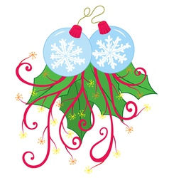 Snow flake xmas ornament vector