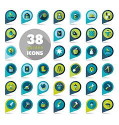 garden farm flat pin map icon vector image