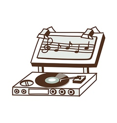A record player vector