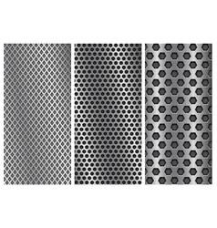 metal perforated backgrounds brochure design vector image