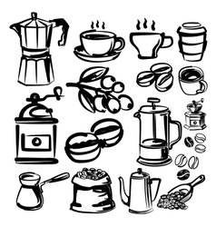 Hand draw coffee vector