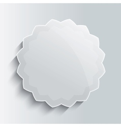 Glass star button template vector
