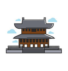 Traditional asian temple vector