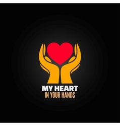 Valentines day hand holding concept background vector