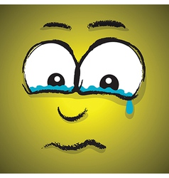 Emotions yellow crying vector