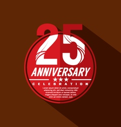 25 years anniversary celebration design vector