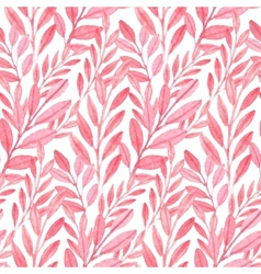 Seamless pink pattern of leaves vector