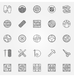 Hand made line icons vector