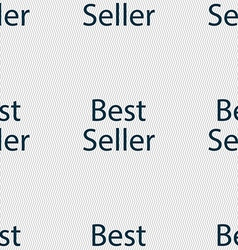 Best seller sign icon best-seller award symbol vector