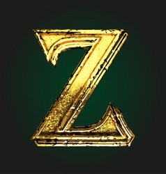 Z golden letter vector