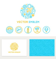 Travel agency concept vector