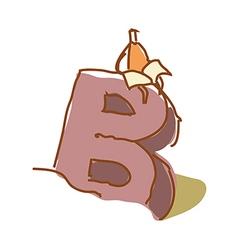A boy on an alphabet vector
