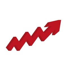 arrow growth up icon vector image vector image