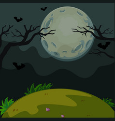 Background scene with scary night on fullmoon vector