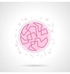 Bacterial genome flat pink icon vector