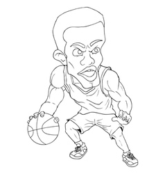 Basket ball player vector