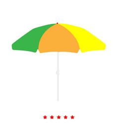 Beach umbrella icon different color vector
