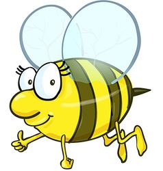 Bee cartoon isolated on white background vector image vector image