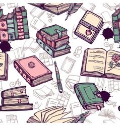 Books seamless pattern vector