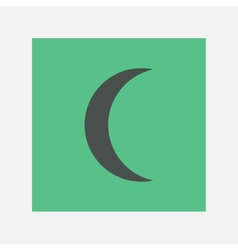 crescent icon vector image vector image