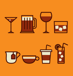 drinks vector image vector image
