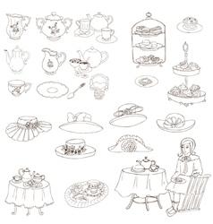 English tea party set vector