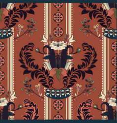 Floral pattern victorian style floral vector