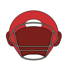 Football helmet design vector