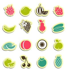 fresh food icons vector image