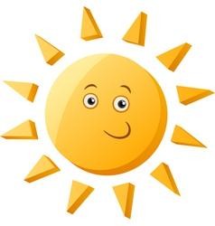 Funny sun cartoon vector