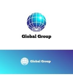 gradient Earth logo Elegant globe symbol vector image vector image
