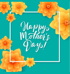 happy mothers day floral greeting card beautiful vector image vector image
