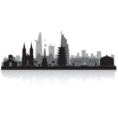 Ho chi minh city vietnam city skyline silhouette vector