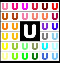 Letter u sign design template element vector