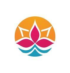 lotus flowers design logo Template vector image