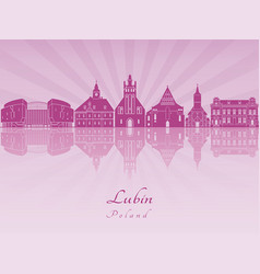 Lubin skyline in purple radiant orchid vector