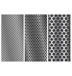metal perforated backgrounds brochure design vector image vector image