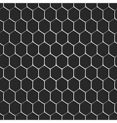 Monochromatic honeycomb seamless pattern vector image