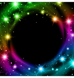 Multicolored night bright star background vector