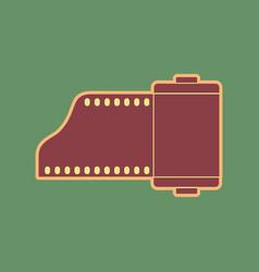 Old photo camera casset sign cordovan vector