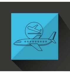 Plane white sun symbol travel design graphic vector