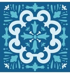 Portuguese azulejo tile vector