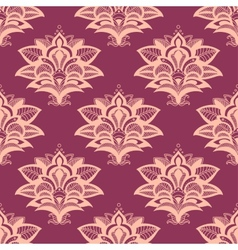 Purple and pink paisley style seamless pattern vector