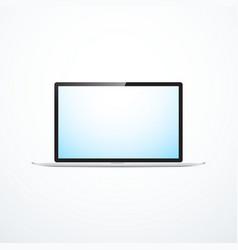 Realistic laptop vector