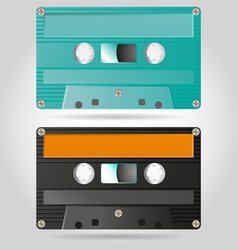 Retro cassettes vector