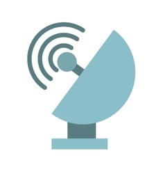 satellite dish isolated icon design vector image