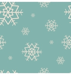 seamless pattern with snowflakes Merry Christmas vector image vector image