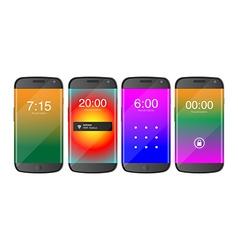 Set of cellphones vector image