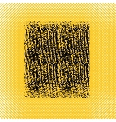 Yellow black square in grunge style vector image vector image